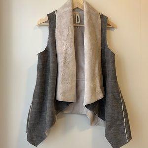 Anthropologie AMADI Kady Sherpa Vest Faux Fur